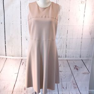 Cream Cremieux Sleeveless Knit Dress
